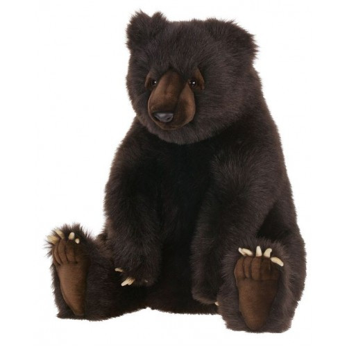 """24"""" Lifelike Handcrafted Extra Soft Plush Seated Brown Grizzly Bear Stuffed Animal - 31068590"""