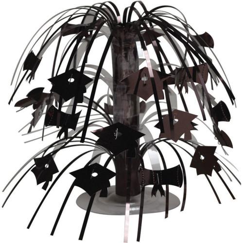"Pack of 12 Black Mini Cascade Centerpiece Graduation Party Decorations 8.5"" - 31520271"