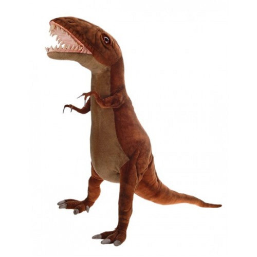 """Life-like Handcrafted Extra Soft Plush Upright on Two Feet T-Rex Stuffed Animal 63"""" - 31069043"""