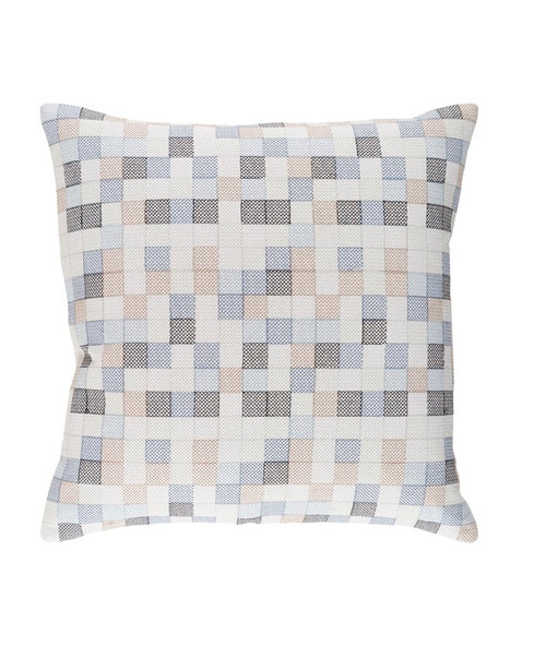 """18"""" Steel Blue and Eye Liner Black Chevron Decorative Throw Pillow - Down Filler - 32214931"""