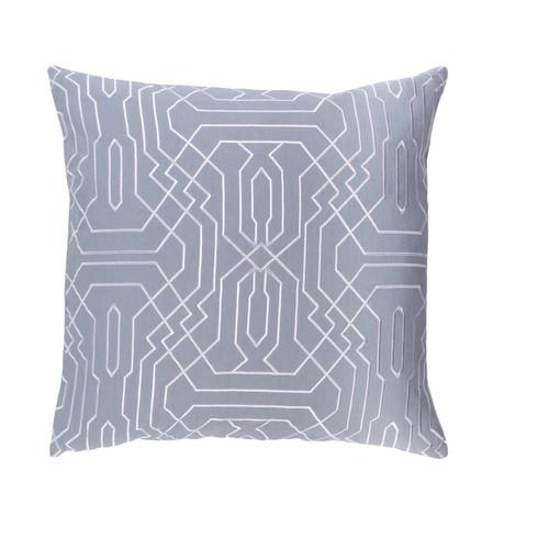 """18"""" Storm Gray and Snow White Chevron Decorative Throw Pillow - 32215256"""
