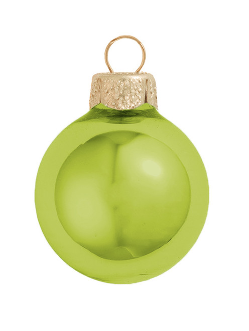 """Pack of 6 Shiny Lime Green Glass Ball Christmas Ornaments 2.75"""" (70mm) - 31490568"""