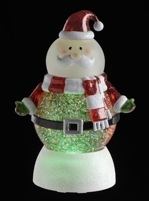 LED Lighted Color-Changing Santa Claus Christmas Glitterdome - 9728395
