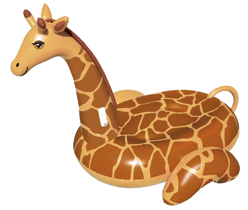 8' Water Sports Inflatable Giant Giraffe Swimming Pool Ride-On Lounger - 32554656