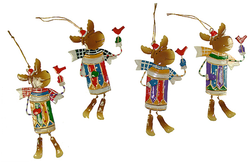 "Club Pack of 216 Whimsical Reindeer Christmas Ornaments 7.25"" - 15761070"