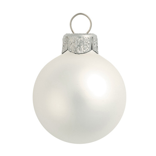 "Matte Silver Glass Ball Christmas Ornament 7"" (180mm) - 30939191"