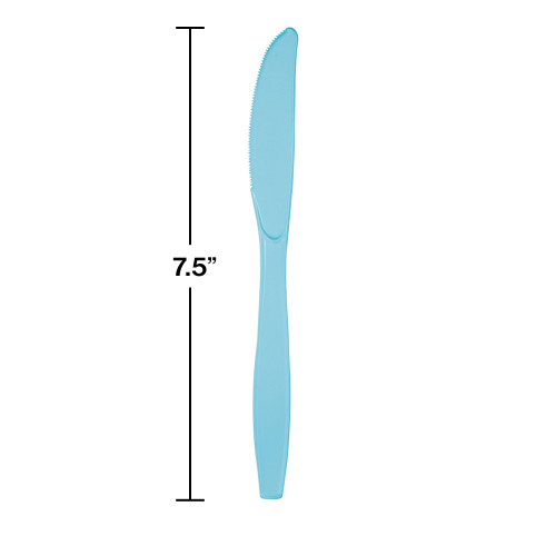 Club Pack of 288 Pastel Blue Premium Heavy-Duty Plastic Party Knives - 31378943