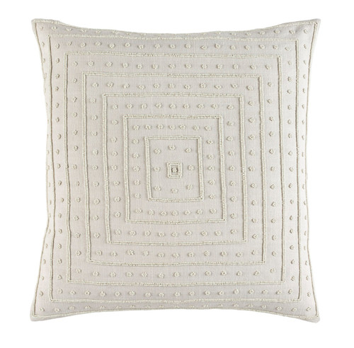 """22"""" x 22"""" Biscuit White Woven Decorative Throw Pillow - 32216058"""