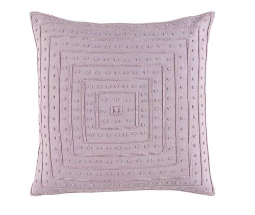 """22"""" x 22"""" Powder Pink Woven Decorative Throw Pillow - Down Filler - 32216035"""