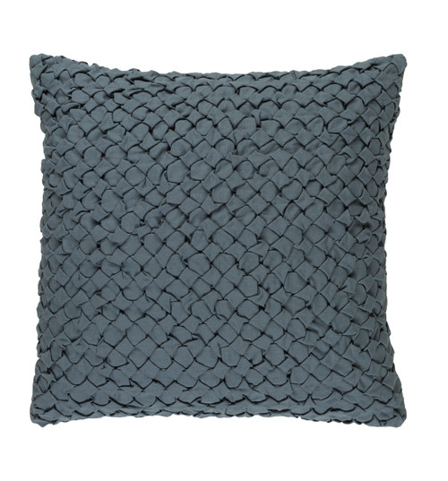 "22"" Haze Gray Angled Weave Decorative Square Throw Pillow - 32215487"