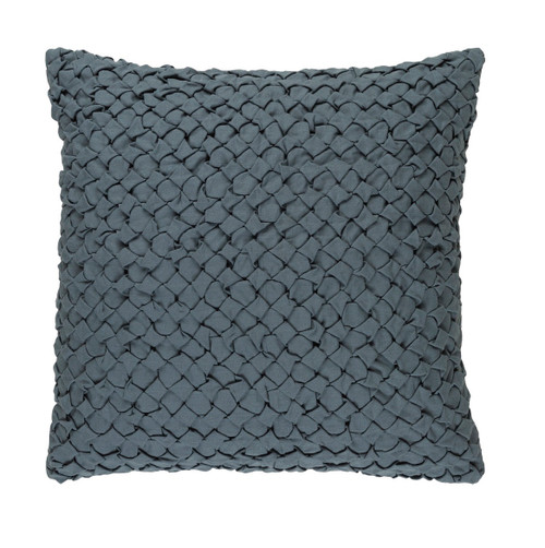 "20"" Haze Gray Angled Weave Decorative Square Throw Pillow - 32215449"