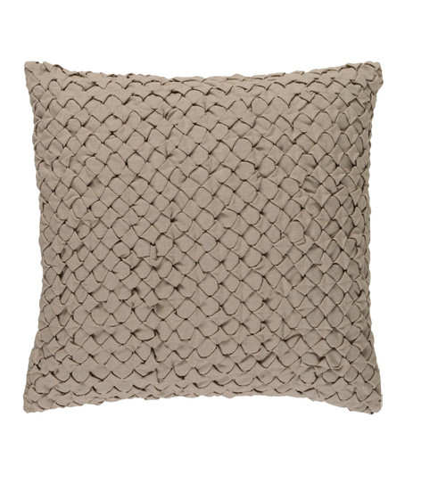 """20"""" Mexican Sand Angled Weave Decorative Square Throw Pillow - 32215474"""