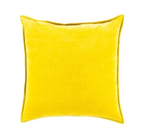 "22"" Chastity's Blush of Pureness Lemon Glacier Yellow Decorative Throw Pillow - Down Filler - 31395284"