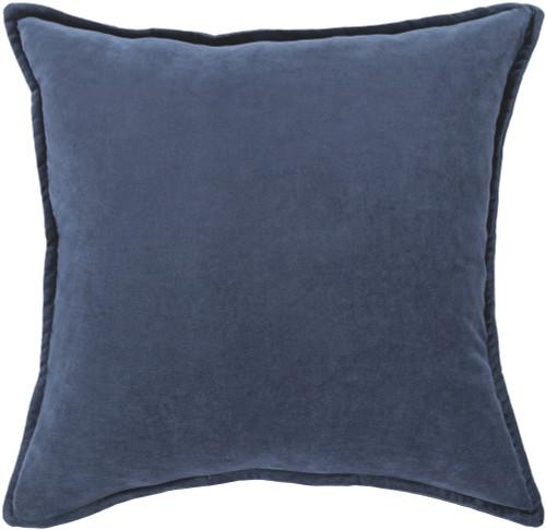 "22"" Muted Dark Blue Contemporary Woven Decorative Throw Pillow - 31395237"
