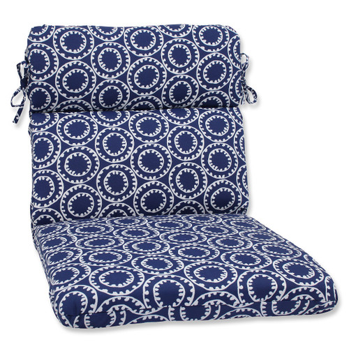 """21"""" x 40.5"""" Ring a Bell Outdoor Patio Rounded Chair Cushion - 32587900"""