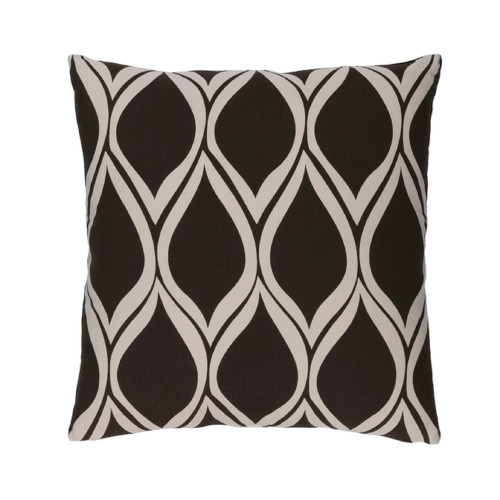 """22"""" Falling Drops Black Coffee with Cloud Gray Decorative Throw Pillow - 32215152"""