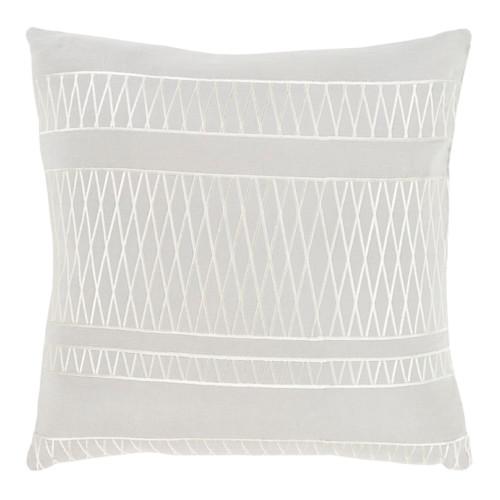 "20"" Illumination Ash and Edgecomb Gray Decorative Throw Pillow - Down Filler - 32215480"