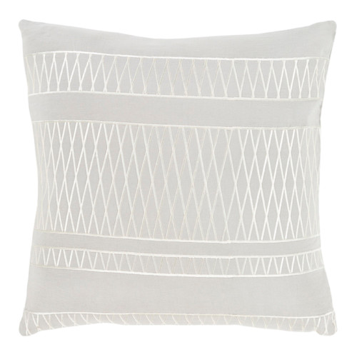 "18"" Illumination Ash and Edgecomb Gray Decorative Throw Pillow - 32215476"