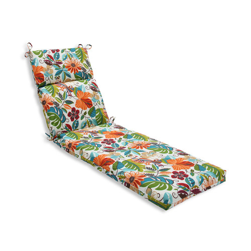 "21"" x 72.5"" Tropical Scenery Outdoor Chaise Lounge Cushion - 32590317"