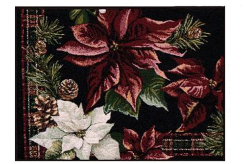 """13"""" x 18"""" Decorative Poinsettia Holiday Christmas Placemat - 10746822"""