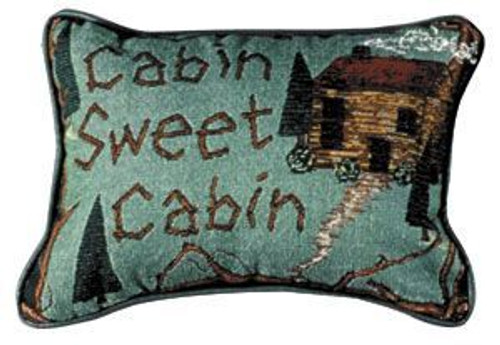"Pack Of 2 ""Cabin Sweet Cabin"" Outdoor Theme Decorative Throw Pillows 9"" x 12"" - 7378640"