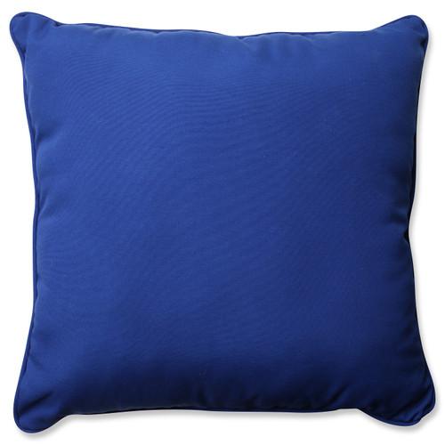 "25"" Fresco Navy Outdoor Square Corded Throw Pillow - 32590763"