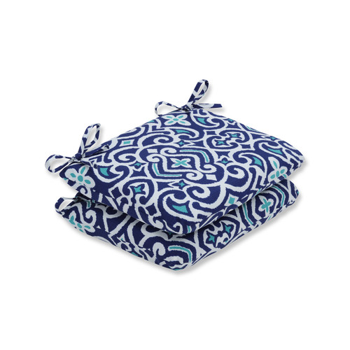 """Set of 2 French Quarter Escape Outdoor Patio Rounded Corner Chair Cushion 18.5"""" - 32595124"""