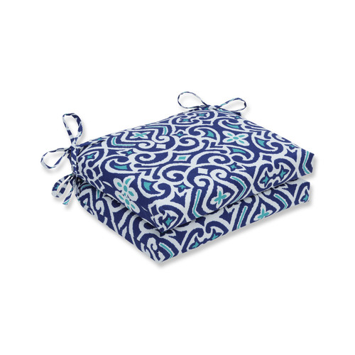 """Set of 2 French Quarter Escape Outdoor Patio Squared Corner Chair Cushion 18.5"""" - 32595126"""