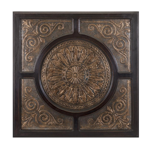 """36"""" Cuivre Brown and Copper Colored Mercury Glass Wall Decoration - 32600542"""