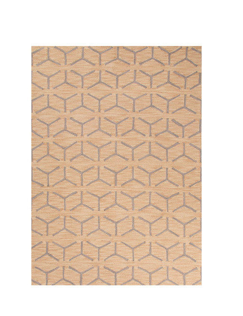 7.5' x 9.5' Gray and Orange Thorton Hand Tufted Area Throw Rug - 32152565