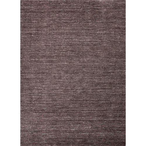 9.5' x 13.5' Charcoal Gray Elements Solid Texture Hand Loomed Wool Area Throw Rug - 31525034