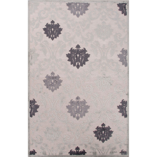 2' x 3' Taupe Gray, Charcoal Gray and Azure Mist Transitional Glamourous Area Throw Rug - 31526495