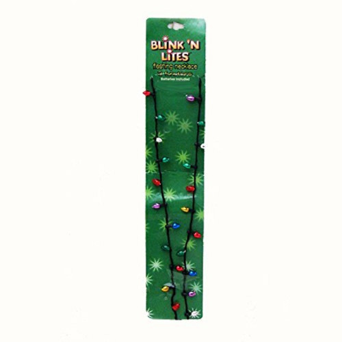 "Club Pack of 24 Multi-Colored Battery Operated LED Christmas Necklaces 30"" - 31367257"