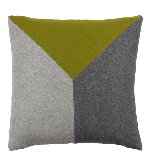 """20"""" Asparagus Green and Pewter Gray Modern Geometric Decorative Throw Pillow - 32216104"""