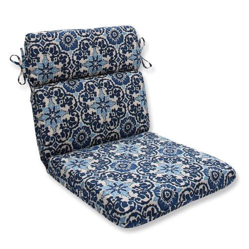 """21"""" x 40.5"""" Ocean Flower Outdoor Patio Chair Cushions - 32590340"""
