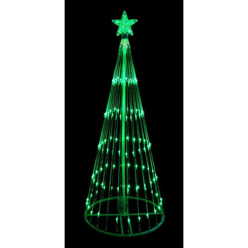 9' Green LED Light Show Cone Christmas Tree Lighted Yard Art Decoration - 32605215