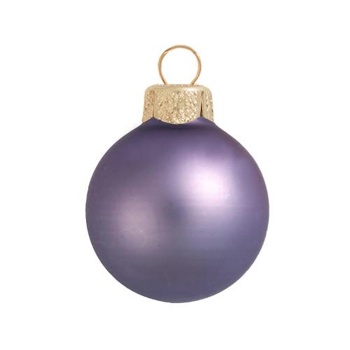 "Matte Lilac Purple Glass Ball Christmas Ornament 7"" (180mm) - 30940240"
