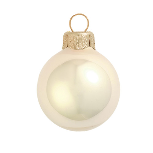 """Pearl Champagne Glass Ball Christmas Ornament 7"""" (180mm) - 30940213"""