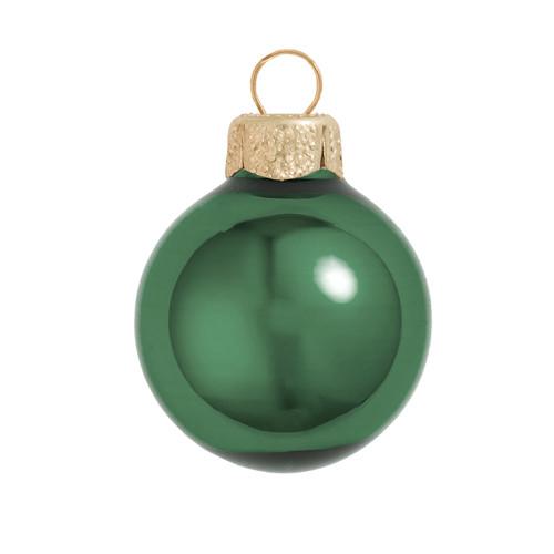 "6ct Shiny Emerald Green Glass Ball Christmas Ornaments 4"" (100mm) - 30939869"