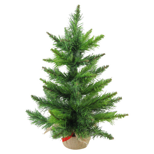 18 mini balsam pine artificial christmas tree in burlap base unlit 32614950 - Mini Artificial Christmas Trees