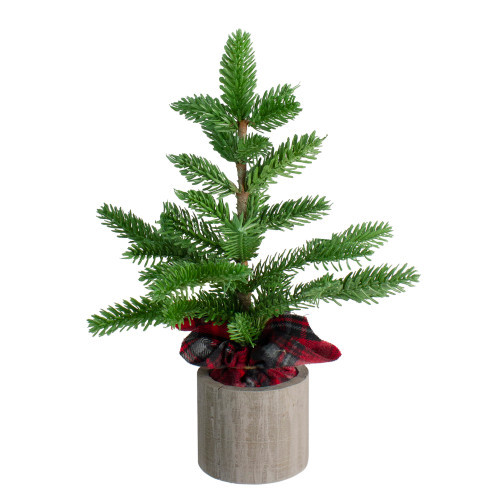 16 artificial pine christmas tree in wooden pot table top decoration 32627476 - Christmas Tree In A Pot