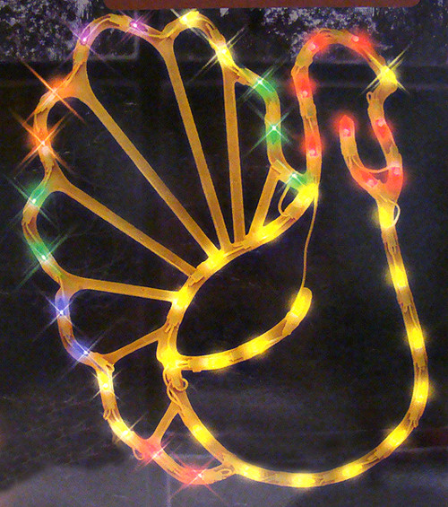 17 lighted thanksgiving turkey window silhouette