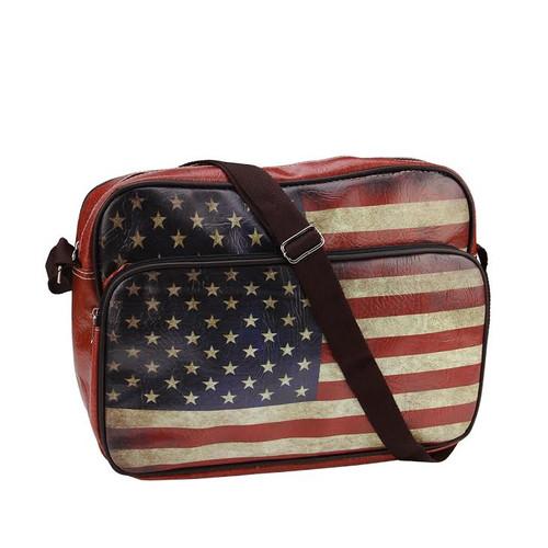 15 Quot Decorative American Flag Design Crossbody Bag Purse