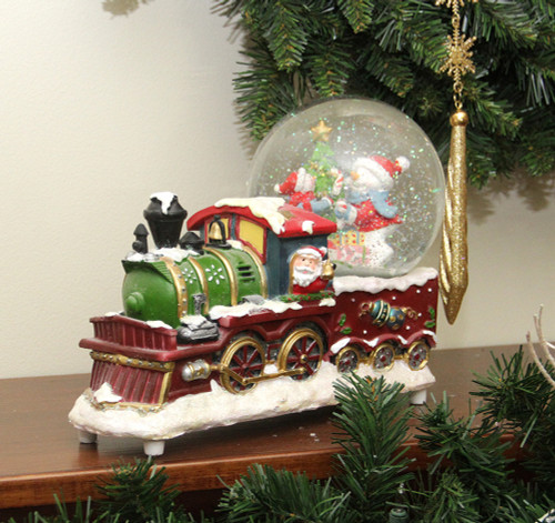 9 5 Santa Claus Christmas Train With Snowman Scene