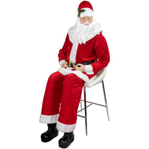 Christmas Decorations Life Size Santa: Huge 6 Foot Life-Size Decorative Plush Christmas Santa