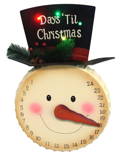 20 led lighted days 39 til christmas snowman face countdown for 36 countdown to christmas snowman yard decoration