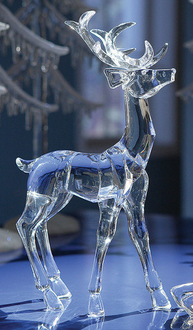 Pack Of 4 Icy Crystal Decorative Christmas Standing Deer