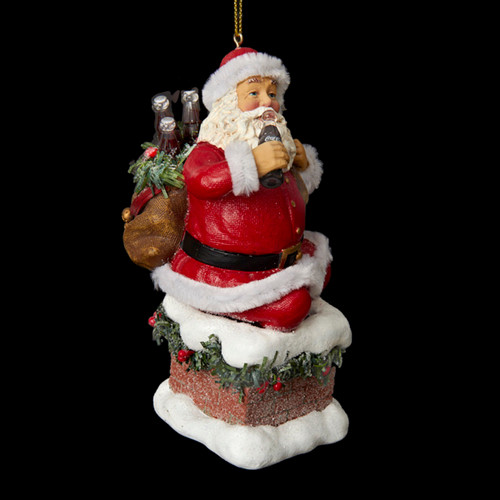 4.5 Santa Claus Coming Out of Chimney Decorative Christmas ...