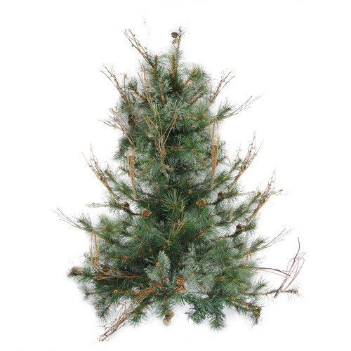 3 39 x 28 country mixed pine artificial christmas wall or for Country living artificial christmas trees