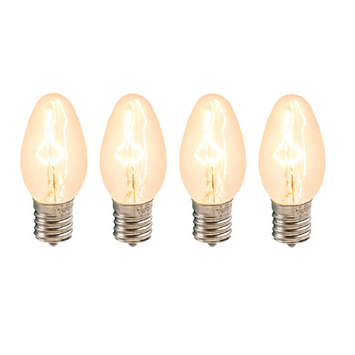Cleveland Vintage Lighting Edison Flame Candelabra Bulbs: Set Of 4 Cleveland Vintage Lighting Edison Style E12 Base
